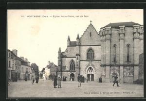 AK Mortagne, Eglise Notre-Dame, vue de face