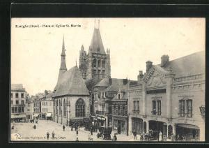 AK Laigle, Place et eglise St-Martin