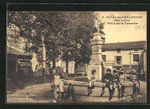 AK St-Pal-en-Chalencon, Place de la Terrasse