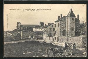 AK La Chaise-Dieu, Avenue de la Gare, Perspective de la Ville, Vue prise du Sud-Ouest