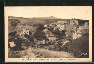 AK Fay-sur-Lignon, L` entrèe par la route du Puy