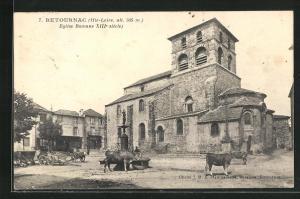 AK Retournac, Eglise Romane XIII. siècle