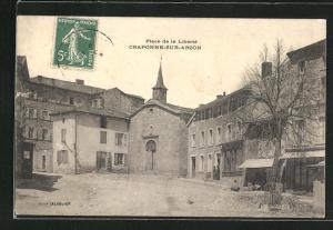 AK Craponne-sur-Arzon, Place de la Libertè