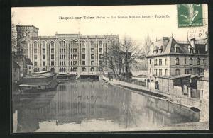 AK Nogent-sur-Seine, Les Grands Moulins Sassot-Facade Est