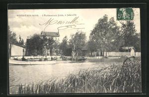AK Nogent-sur-Seine, L` Ètablissement Jolain, à Jolainville