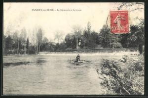 AK Nogent-sur-Seine, Le Dèversoir et le Livon