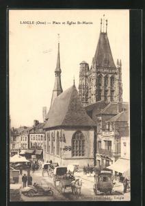 AK Laigle, Place et Èglise Saint-Martin
