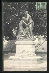 AK Nogent-sur-Seine, L` Amour Filial, d` Alfred Boucher