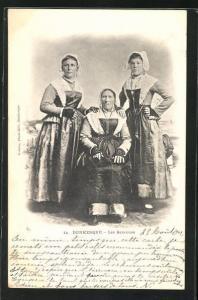 AK Dunkerque, Les Bazennes, Frauen in Tracht