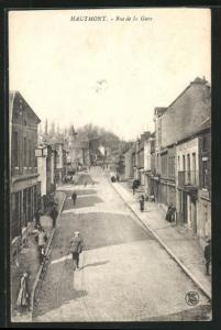 AK Hautmont, Rue de la Gare