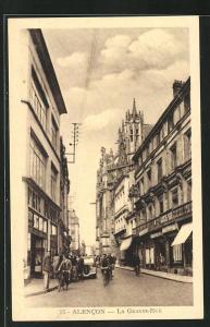 AK Alencon, La Grande-Rue