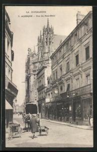 AK Alencon, Rue du Pont-Neuf