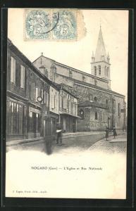 AK Nogaro, L`Eglise et Rue Nationale