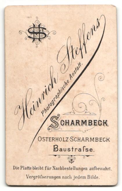 Fotografie Heinrich Steffens, Scharmbeck, Junge im Jacket mit weisser Fliege 1