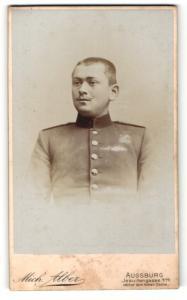 Fotografie Mich. Alber, Augsburg, junger Soldat in Uniform