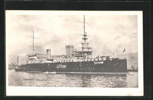 AK Französisches Kriegsschiff Carnot auf Reede