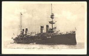 AK Montcalm, French Cruiser, französisches Kriegsschiff
