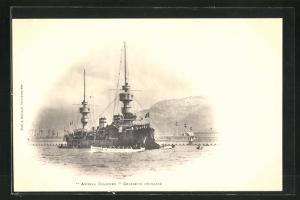AK Amiral Charner, Croiseur Cuirassé, französisches Kriegsschiff