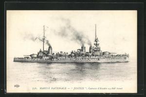 AK Justice, Cuirassé d`Escadre, französisches Kriegsschiff