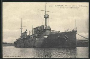 AK Saint-Nazaire, Chantiers et Ateliers de l`Atlantique, Le Croiseur Cuirassé Ernest Renan, französisches Kriegsschiff