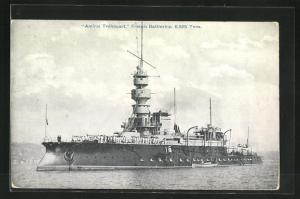 AK French Battleship Amiral Tréhouart
