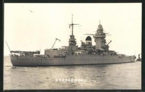 AK Französisches Kriegsschiff Strasbourg