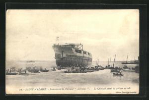 AK Saint-Nazaire, Kriegsschiff Lorraine auf hoher See