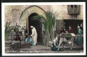 AK Port-Said, Vendors of Sugar Cane