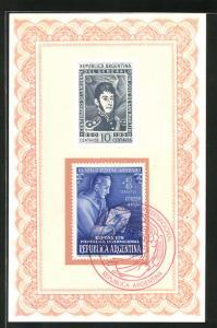 AK Buenos Aires, Exposicion Filatelica Internacional 1950, El Sello Postal: Grabado