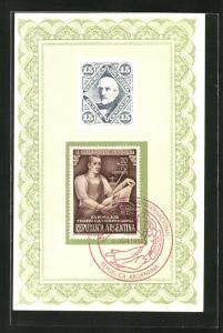 AK Buenos Aires, Exposicion Filatelica Internacional 1950, El Sello Postal: La Prueba