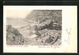 AK St. Helena, Panorama van af de rotsen