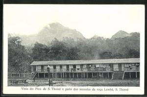 AK S. Thome, Vista do Pico e parte das senzalas da roca Lemba