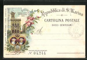 Lithographie S. Marino, Palazzo del Consiglio Principe e Soverano, Inaugurazione 1894