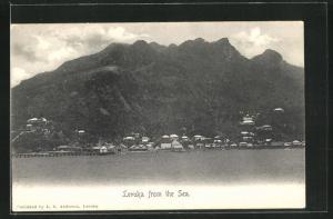 AK Levuka / Fiji, Blick auf den Küstenort