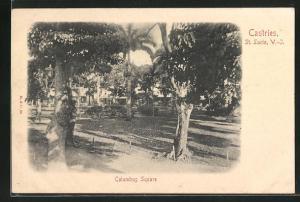 AK Castries, View of Columbus Square