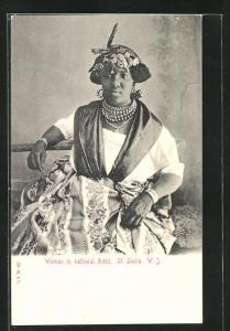 AK St. Lucia / W. J., Woman in national dress