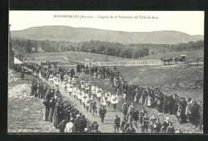 AK Roncesvalles, Llegada de la Procession del Valle de Arce