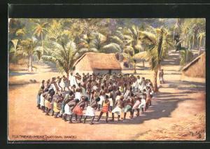 AK Fiji, Einheimische beim Meke-Meke Tanz