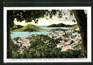 AK St. Thomas / Virgin Islands, Charlotte Amalie and French Village, from Denmark Hill