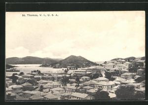 AK St. Thomas / Virgin Islands, Ortsansicht aus der Vogelschau