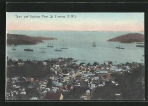 AK St. Thomas, Ortschaft und Hafen