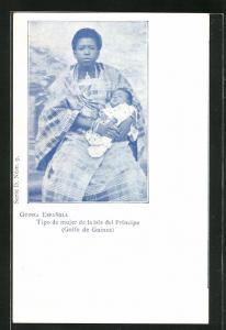 AK Principe / Guinea Espanola, Tipo de mujer de la isla del Principe