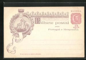 Lithographie Madeira, Burg 1489-1898