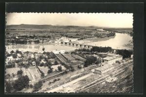 AK Tudela-Mejana, Puente de piedra y rio Ebro