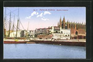 AK Palma de Mallorca, Muelle y Catedral