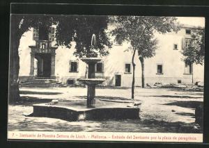 AK Mallorca, Entrada del Santuario por la plaza de peregrinos