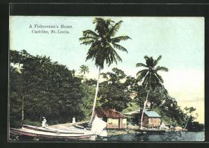 AK St. Lucia-Castries, A Fisherman`s Home