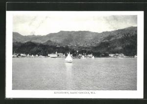 AK Kingstown / Saint Vincent / W. I., Teilansicht