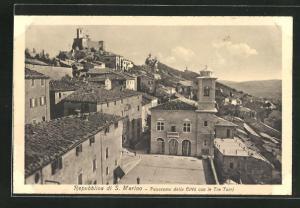 AK S. Marino, Panorama della Citta con le Tre Torri