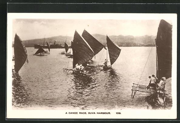 AK Fiji, Suva Harbour, A Canoe Race 0